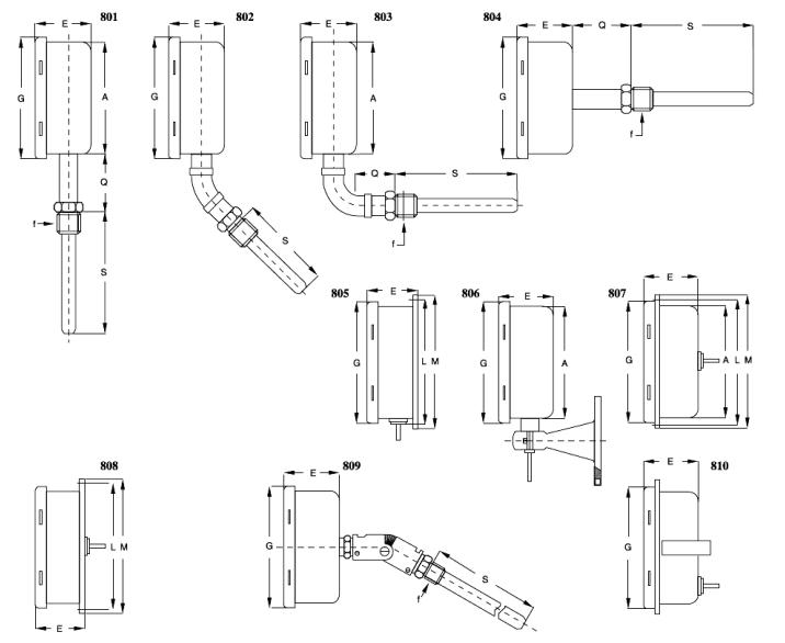 Cặp nhiệt độ ống & dây dài Tema - TM800 / Đại lý chính hãng Tema Việt Nam