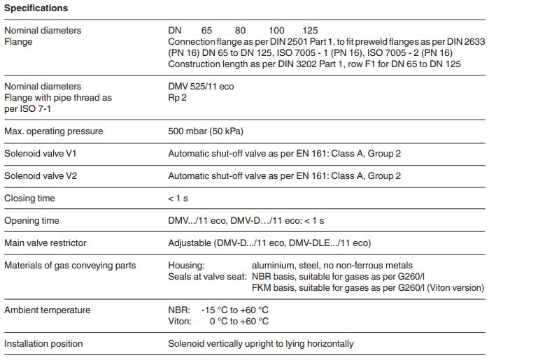 Dungs VietNam - Series DMV-DLE Double solenoid valve