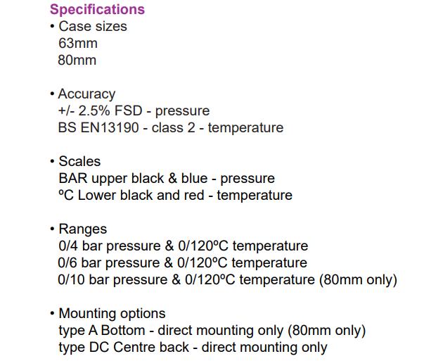 Đồng hồ đo áp suất và nhiệt độ CPT | PCI-Instrument Viet Nam