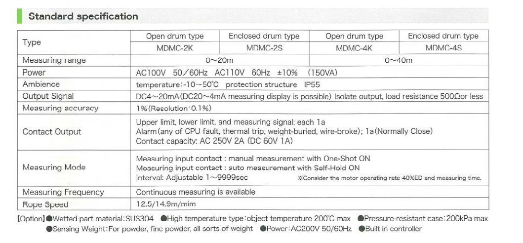 Thiết bị đo mức SOUNDING M's - Matsushima Viet Nam