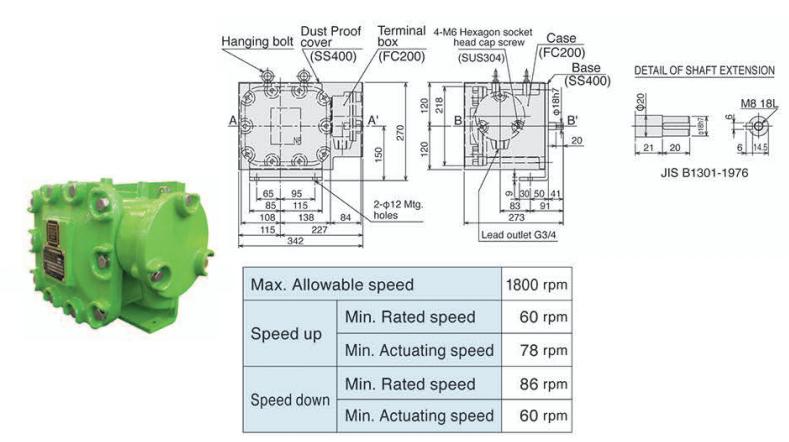 Thiết bị theo dõi tốc độ băng tải Series ESRW - Matsushima Viet Nam